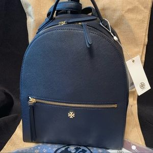 Tory Burch navy backpack